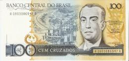 BILLETE DE BRASIL DE 100 CRUZADOS DEL AÑO 1986  (BANKNOTE) SIN CIRCULAR-UNCIRCULATED - Brasil