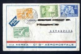 Uruguay, 1930, To England, Via Aeropostale   (A124) - Uruguay