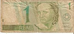 BILLETE DE BRASIL DE 1 REAL  (BANK NOTE) COLIBRI-BIRD-PAJARO - Brasile