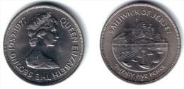 JERSEY, Elizabeth II - 25 Pence 1977 ROYAL JUBILEE - KM#44 BU - Jersey
