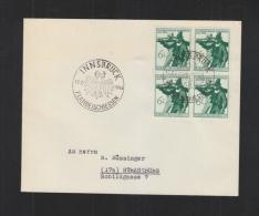 Österreich Brief Sonderstempel 7. Landesschiessen Innsbruck 1944 - 1918-1945 1a Repubblica