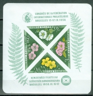 Hungary 1958 Flowers, Imperf MNH** - Lot. A292 - Blocks & Sheetlets