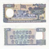 URUGUAY BANKNOTE 10 PESOS PICK 73B UNC 1995 - Uruguay