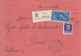 Italy 1933 Registered Cover - 1900-44 Vittorio Emanuele III