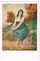 I1725 Ragazza Girl Femme Frau Chica - Mignon - Josef Suss Suess - Illustrazione Illustration / Non Viaggiata - Suess, Josef