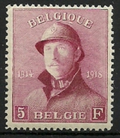 BELGIE 177 + CENTRAGE Xx ( COB ) COTE: ++ 410  EURO - 1915-1920 Albert I
