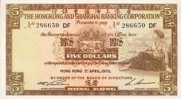 Hong Kong, 5 Dollar, Pick Nr.181 D, 1970 ! - Hongkong