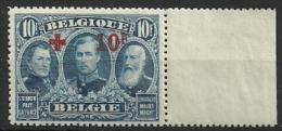 BELGIE 163  Xx + BLADBOORD - BORD DE FEUILLE ( COB ) COTE: 1900  EURO - 1918 Rotes Kreuz
