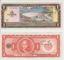 El Salvador 1 Colon 1980/1980 Pick 125 UNC - El Salvador