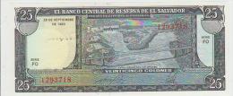 El Salvador 25 Colon 1983 Pick 136 UNC - El Salvador