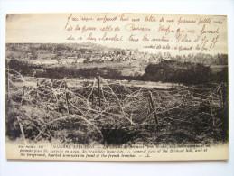 Cpa, Guerre De 1914-1915, La Colline De Brimont, Près Reims, Vue Panoramique Et Au Premier Plan Fils Barbelés En Avant D - France
