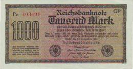 """1000 Mark """"reichsbanknote"""" Du 15/9/1922 - NEUF - 1.000 Reichsmark"""