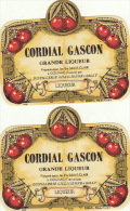 4 Etiquettes Cordial Gascon Saint Clair à Cognac Distillerie à Gilly Liqueur - Etiquettes