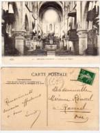 ARCUEIL-CACHAN - Intérieur De L' Eglise  - Cachet Perlé De RAVENEL (Oise)  (63288) - Arcueil