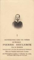 Pierre Declerck Gernay Casino Waereghem - Décès