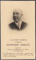 Alphonse Gernay Industriel Medaille Palme De L´ordre De La Couronne Waereghem Coq Sur Mer - Overlijden