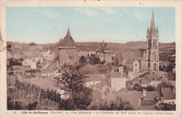 22177 SILLE LE GUILLAUME - Vue Générale - Le Château Et L'Eglise -Nozais 16