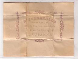 Publicité H. Jeanrenaud, Timbres Caoutchouc, Cachet De Cire (609) Format 9 X12 - Publicités