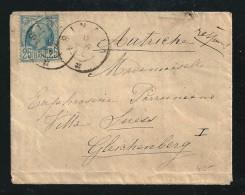 ROMANIA 1888 - N. 56  Su Piccola BUSTA (vuota) - SINAIA  / GLEICHENBERG - Cat. ? € - - 1881-1918: Charles Ier