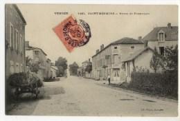 SAINT MESMIN  Route De POuzauges  . Belle Carte. - France