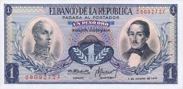 Colombia 1 Peso 1973 Pick 404e UNC - Colombia