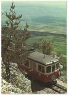 YVERDON-SAINTE-CROIX - Ancienne Be 4/4 Au-dessus Des Rapilles Avec Vue Sur La Plaine - 1987 - Trains