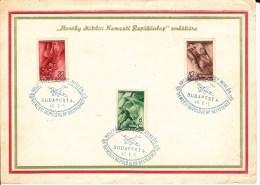 HONGRIE - 1 JANVIER 1940 - CARTE POSTE AERIENNE GRAND FORMAT De BUDAPEST Avec CACHET FDC