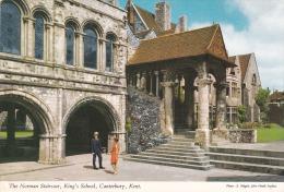 Reino Unido--Canterbury--1972--Kent--The Norman Staircase, King's Shhool---a, Francia - Escuelas