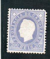 CAP VERT 1886 * DENT 12.5 - Islas De Cabo Verde