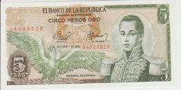 Colombia 5 Peso 1978 Pick 406f UNC - Colombie