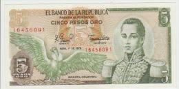 Colombia 5 Peso 1979 Pick 406f UNC - Colombia