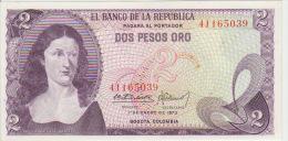 Colombia 2 Peso 1973 Pick 413 UNC - Colombie