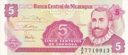 NICARAGUA - BILLET DE 5 CENTAVOS - 1991 - Nicaragua