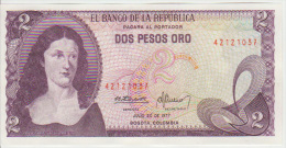 Colombia 2 Peso 1977 Pick 413 UNC - Colombia