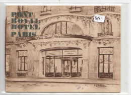 """VP - B1041 - 75 - Paris -  RARE Et Jolie Plaquette Du """" Pont Royal Hôtel"""" ( Détails Scans Multiples) - Advertising"""