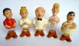 5 FIGURINES PUBLICITAIRES BOB ET BOBETTE - Bo�tes de bonbons KIEWIT 1995