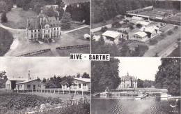 22197 En Avion Au Dessus De Rive Sarthe, Chateau Maison Repos Jeune Sncf Chalets Sapinville Piscine -Lapie Aerien - France
