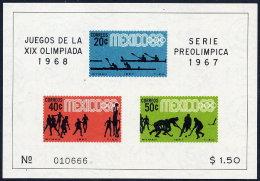 MEXICO 1967 Olympic Games 1968  2 Blocks MNH / **.  Sc. 983a, 985a - Mexico