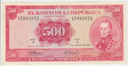 Colombia 500 Peso 1973 Pick 416 UNC - Colombie