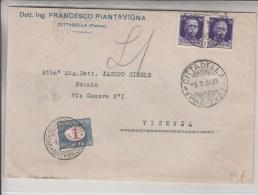 STORIA POSTALE-REGNO D'ITALIA-BUSTA 1934 Vg Da Cittadella Coppia Vitt.Eman.III 50c Violetto-Vedi Descrizione... - Posta