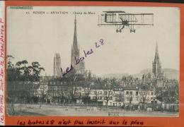 CPA  76, ROUEN,  Champ De Mars,  AVIATION, 1911, Transport,  NOV.2013 1373 - Rouen