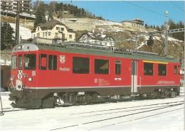 TRAIN Suisse - EISENBAHN Schweiz - Chemin De Fer Rhétique - BERNINA, Automotrice électrique ABe 4/4 51 (autorail,tramway - Gares - Avec Trains