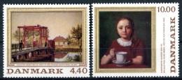 """DANEMARK  1989  MNH  -  """" TABLEAUX DE PEINTRES DANOIS """" -   2  VAL. - Neufs"""