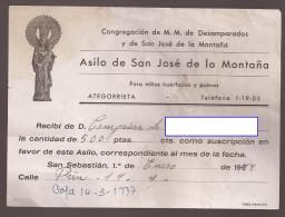 Doc, Asilo San Jose De La Montaña, De ATEGORRIETA - Documentos Antiguos