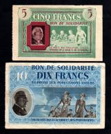 Bons De Solidarité 5F Et 10F Pétain - Bons & Nécessité