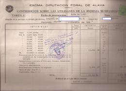 Doc, Con Sello Contribucion Mobiliaria Nº 3 - Documentos Antiguos