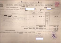 Doc, Con Sello Impuesto De Trabajo - Documentos Antiguos