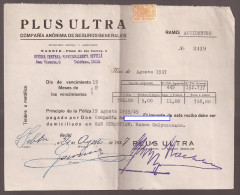 Doc, Con Sello Plus Ultra - Documentos Antiguos
