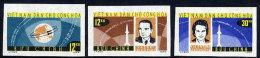 NORTH VIETNAM 1964 Vostok Space Flights Imperforate Set Of 3  MNH / (*).  Sc. 291-93 - Vietnam