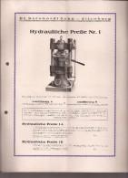 Documento Con Gráficos, Hydraulische Presse 1 - Alemania